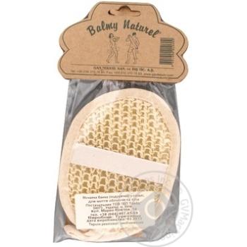 Подушечка масажна для обличчя із сизалі Balmy Naturel - купить, цены на Novus - фото 2