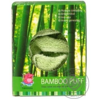 Мочалка-пуф Camille бамбук - купить, цены на Фуршет - фото 2