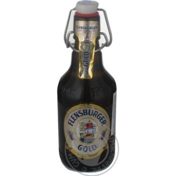 Пиво Фленсбургер Голд светлое пастеризованное стеклянная бутылка 4.8%об. 330мл Германия