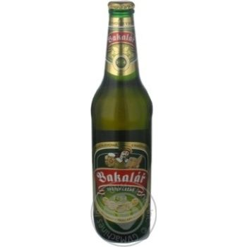 Пиво Бакалар светлое 4.9% 500мл Чехия