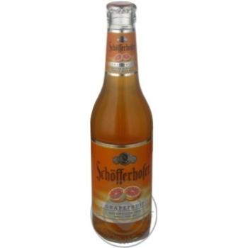 Пиво Шофферхофер Хефевайзен-Микс Грейпфрут светлое пшеничное нефильтрованное пастеризованное стеклянная бутылка 5.5%об. 330мл Германия