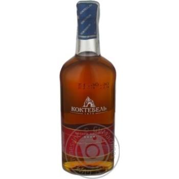 Cognac Koktebel 40% 4yrs 375ml glass bottle Ukraine