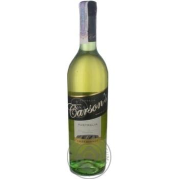 Wine chardonnay Carson's cliff Private import white dry 12% 750ml glass bottle Australia
