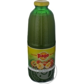 Peach nectar Pago glass bottle 750ml Russia