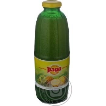 Сок Паго ананасовый восстановленный без сахара стеклянная бутылка 750мл Австрия