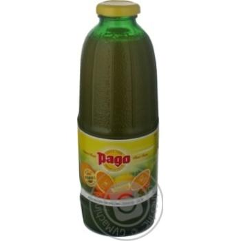 Нектар Паго апельсин-морковь-лимон стеклянная бутылка 750мл Россия