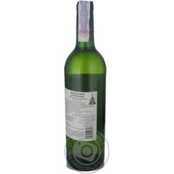 Вино біле Летр де Франс Блан Муалле напівсолодке 11% скляна пляшка 750мл Франція - купити, ціни на Ашан - фото 2