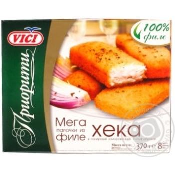Филе хека Vici приоритете в панировке замороженное 370г