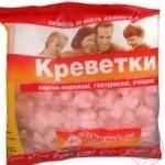 Морепродукти креветка очищена 450г Україна