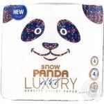 Папір туалетний Сніжна панда Luxury Art 4шар.4шт