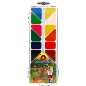 Акварель медова 18 кольорів Cool for School Як Козаки без пензлика, у пластиковій коробці з підвісом KZ01674