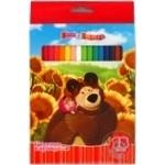 Олівці кольорові Росмен Маша та Ведмідь шестигранні 18шт