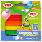 Набір пластиліну VGR 6 кольорів 100г