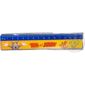 Лінійка пластикова Cool for School Tom and Jerry 15см TJ02450