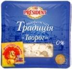 Продукт творожный Президент Творожная традиция 0% 200г