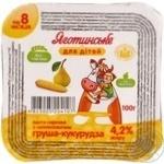 Паста творожная Яготинское для детей груша-кукуруза с 8 месяцев 4.2% 100г пластиковый стакан Украина