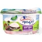 Йогурт Савушкин продукт двухслойный вишня-черная смородина обогащенный бифидобактериями 2% 120г пластиковый стакан Белоруссия
