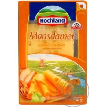 Сыр Хохланд маасдамер твердый нарезка 45% 150г Польша