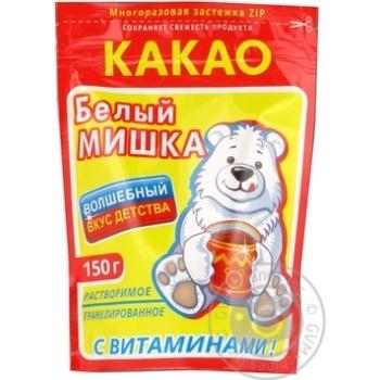 Какао Белый мишка растворимый для выпекания 150г дой-пак Россия