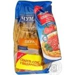 Макарони Чумак Пера короткорізані + спагетті-соус 250г