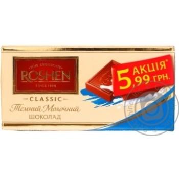Chocolate milky Roshen bars 37% 100g Ukraine