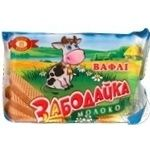 Waffles Biscuit-chocolate corporation Zabodaika milk 80g packaged