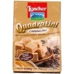 Cookies Loacker Quadratini with cappuccino 220g packaged Italy