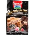 Печиво Квадратне Лоакер чорний шоколад 250г