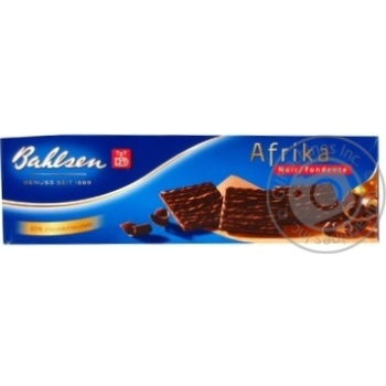 Вафли Бальзен Африка с черным шоколадом 130г картонна коробка Германия
