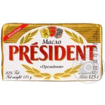 Масло Президент кислосливочное 82% 125г