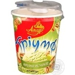 Ice-cream Azhur Triumf with almonds 80g plastic cup Ukraine