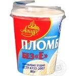 Ice-cream Azhur Without e glace plombieres 80g plastic cup Ukraine