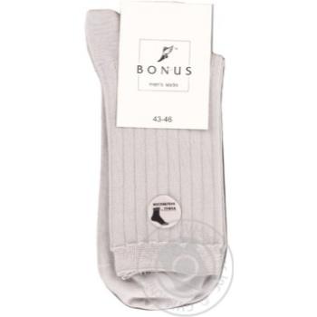 Шкарпетки чоловічі Bonus 0 2323 331 2931 св.сірий послаблена гумка Літо