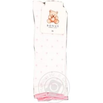 Носки детские белое Bonus 2276 р.16 - купить, цены на Фуршет - фото 1