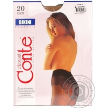 Tights Conte natural polyamide for women 20den 2size - buy, prices for Novus - image 6