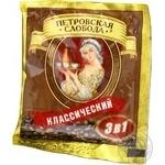 Напиток кофейный Петровская Слобода Классический 3в1 растворимый в стиках 20г Россия