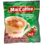 Instant coffee drink MacCofee Hazelnut 3in1 with coffee extract stick sachet 18g Singapore