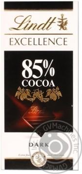Шоколад черный Lindt Excellence горький 85% 100г
