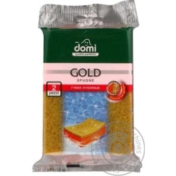 Губки кухонные Domi золото 2шт - купить, цены на Фуршет - фото 4