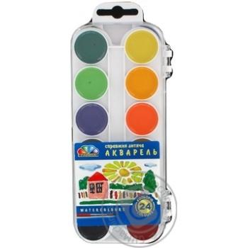 Фарба акварель Гамма 24 кольори Медова пластик - купити, ціни на Novus - фото 1