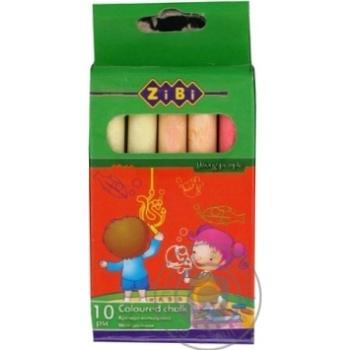 Крейда кольорова ZiBi картонна коробка 10шт