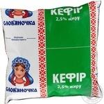 Кефир Славяночка 2.5% 450г пленка Украина