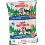 Молоко Мои коровки Карпатское 2.5% суперпастеризованное 900г Украина