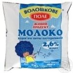 Молоко Волошкове поле пастеризоване 2.6% 450г плівка Україна