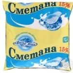 "СМЕТАНА 15% ТМ""АЛЬМА-ВІТА"" 0,4Л"