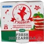 Сыр Гудвин Моцарелла сычужный мягкий в рассоле 45% 125г Украина