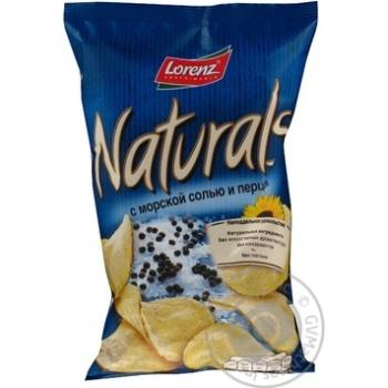 Чіпси Лоренц Нетчерелс картопляні з морською сіллю і перцем 110г Німеччина - купити, ціни на Novus - фото 2