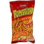 Чипсы Лоренц Помстикс Хот&Спайси картофельные соломкой 100г Германия