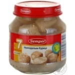 Meatballs Semper made of chicken meat for 7+ months babies glass bottle 130g Spain