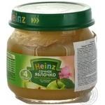 Пюре Хайнц Сочное Яблочко без крахмала и сахара для детей с 4 месяцев стеклянная банка 80г Италия